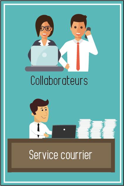 Service courrier et collaborateurs