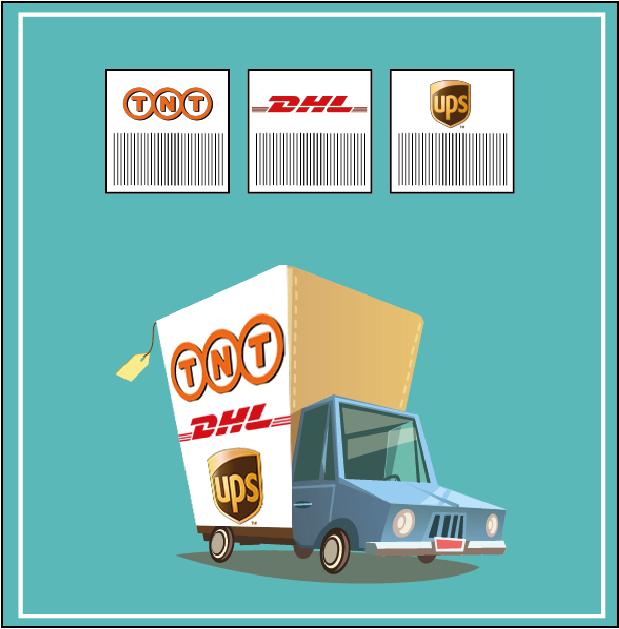 Camions étiquettes transporteurs